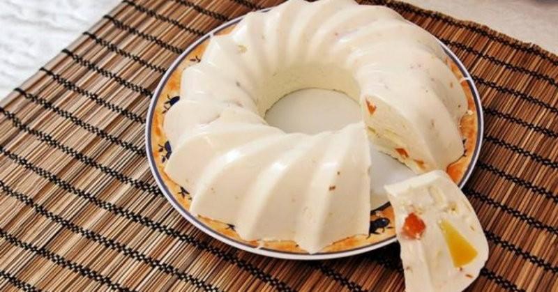 Легкий десерта из творога