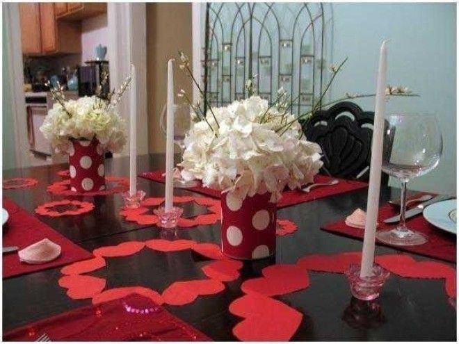 Идеи дизайна праздничного стола для влюбленных