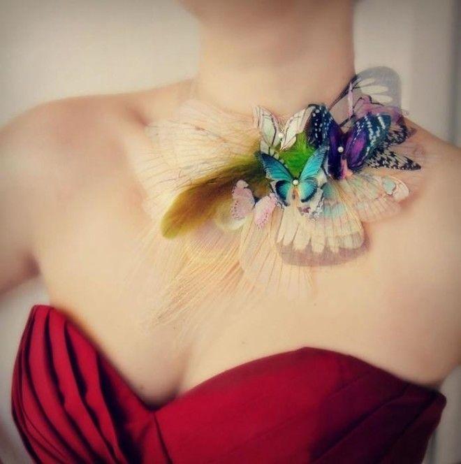 Бабочка из шифона