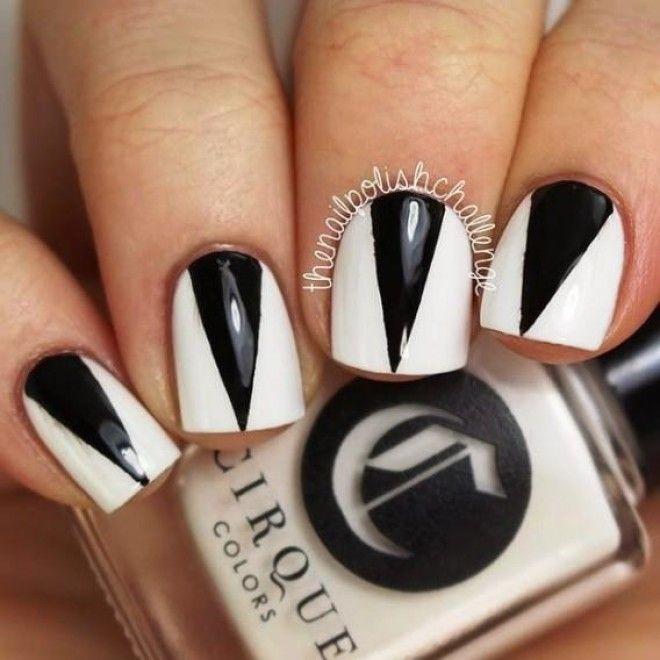 Как сделать на ногтях треугольники 83