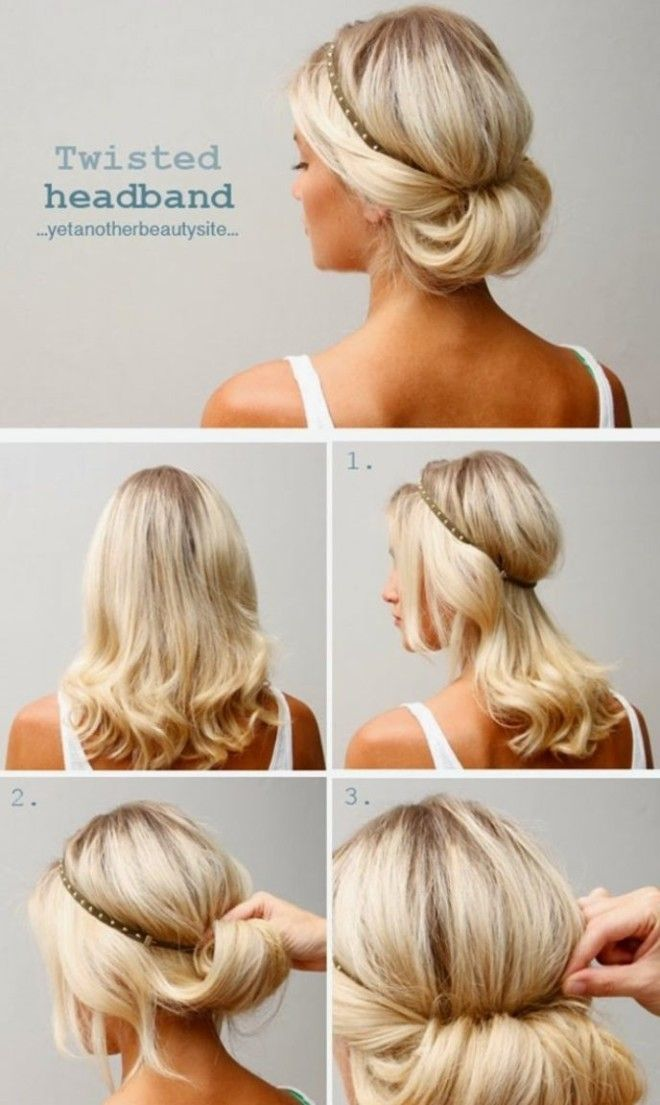 Как можно сделать причёску с ободком 281