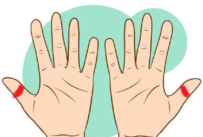 точки на руках