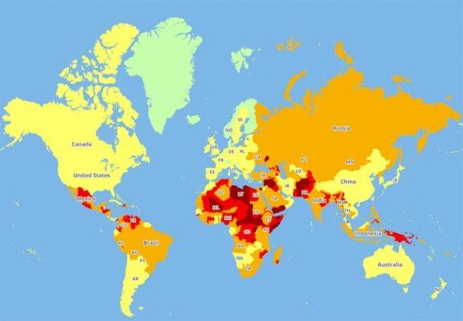 Список самых опасных для туристов странВот куда не стоит ездить в 2018 году