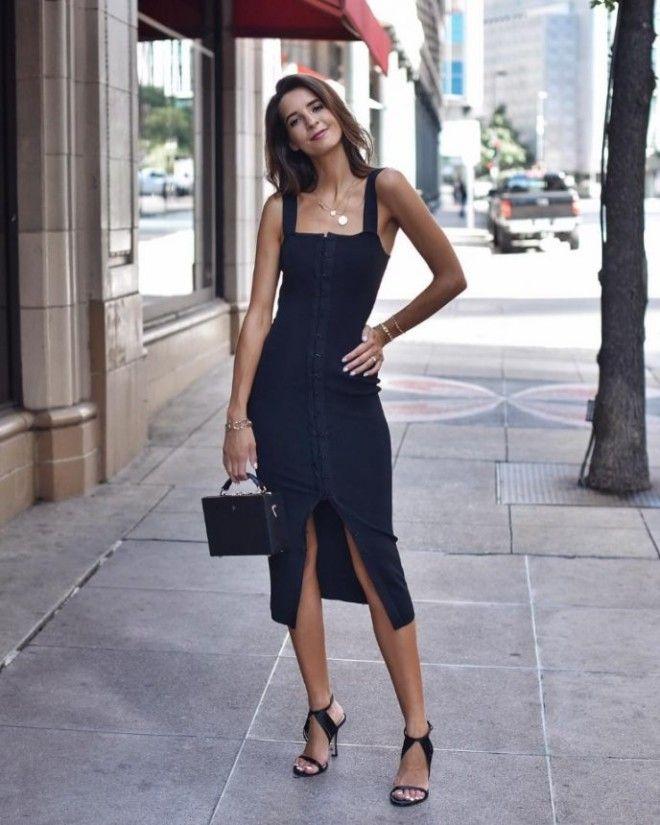 Стильное маленькое черное платье в коллекциях осеньзима 20182019