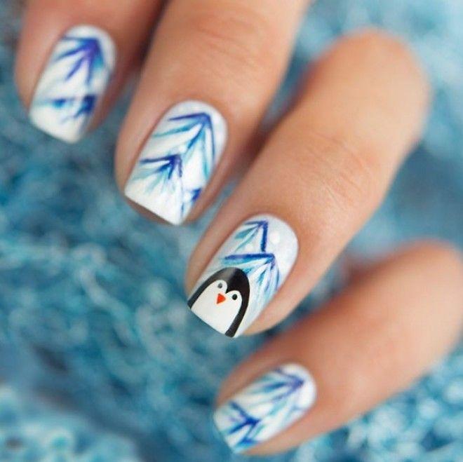 зимний дизайн ногтей идеи